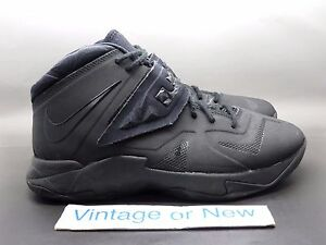 low priced 0a70b a6445 Image is loading Nike-LeBron-Zoom-Soldier-VII-7-Blackout-Triple-