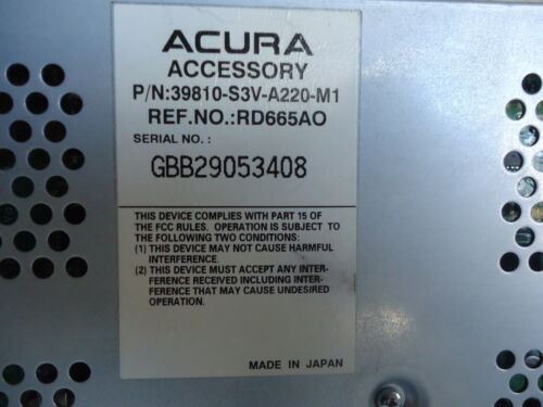 05 06 ACURA MDX Navgition LCD Display Screen Monitor NAV Tested Factory OEM NAVI