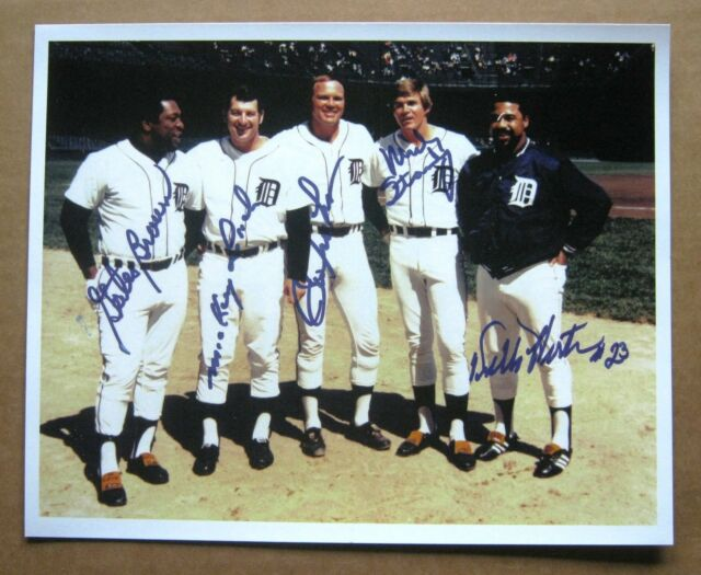 Detroit Tigers 1968 World Series 5 Champs Photo, Copy : Lolich, Freehan,Horton