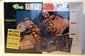 Classic-Major-League-Baseball-Trivia-Board-Game-1991-Collectors-Edition-NIB
