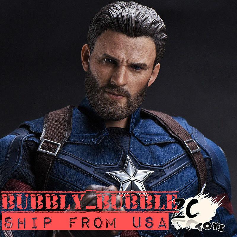 1 6 Chris Evans Captain America Head Sculpt Avengers 3 For PHICEN Hot Toys  USA