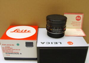 Leitz-11216-Leitz-Leica-Summicron-R-1-2-50mm-034-Sammlerstueck-boxed-034-TOP