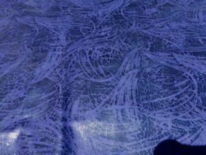 lambskin sheepskin leather hide skin Buttersoft Dark Blue Purple Sprays Print