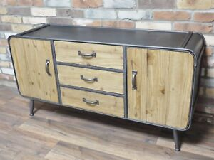 Sideboard Industrial Look ~ Tv sideboard industrial look massivholz moebeldeal
