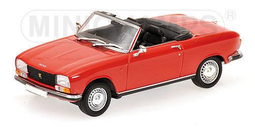 Peugeot 304 Cabriolet 1970 rouge Minichamps 1 43 400112730 Modellino Diecast