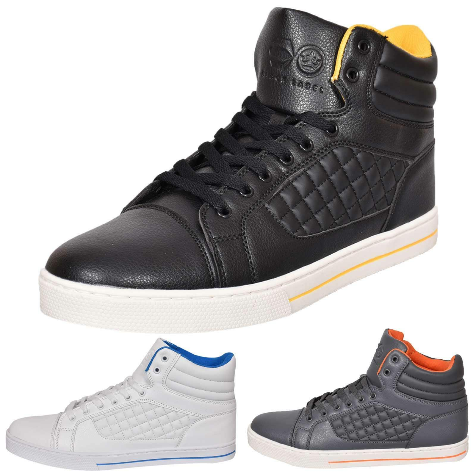 0f3a3bda9d Details about Mens Trainers Lace up Crosshatch High Tops Ankle Padded Shoes  New UK Sizes 7-12