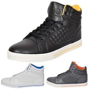 Mens-Trainers-Lace-up-Crosshatch-High-Tops-Ankle-Padded-Shoes-New-UK-Sizes-7-12