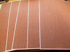 1/18 diorama Modern Style Brickwork ( 5 x A4 sheets)