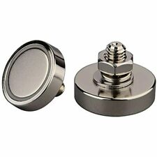 2pack 100lb Strong Power Neodymium Cup Magnet With M8 Male Threaded Stud Heavy