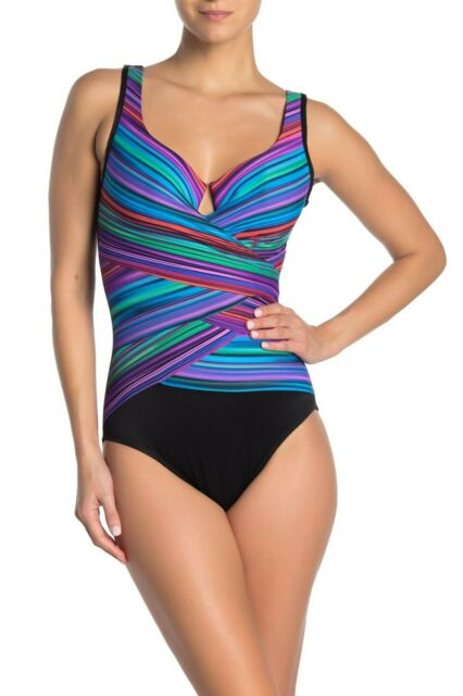Orig $162 Miraclesuit Magicsuit Swimsuit 12 Pink Natalie Slimming One Piece