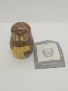 Vintage-1992-The-Franklin-Mint-Collector-s-Treasury-of-Owls-Russian-Nesting-Rare