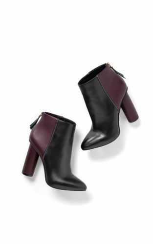 NEW Cabi Cabi Cabi Bisset Bootie, Size 10, Fall 2017, Black & Vino Leather Heel Boot 1b244f