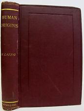 1892 HUMAN ORIGINS Natural History SCIENCE Evolution EGYPT China ARABIA limited