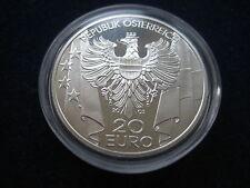 """MDS ÖSTERREICH 20 EURO 2003 PP / PROOF """"WIEDERAUFBAU IN ÖSTERREICH"""",  SILBER #5"""