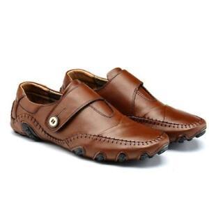 new vintage mens strap driving loafer moccasins leather