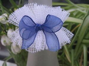 Kommunion Kerzenschmuck Tropfschutz Weiß/blau Exquisite Traditionelle Stickkunst Mädchen - Besondere Anlässe