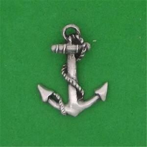 Image Is Loading ENGLISH PEWTER SHIP 039 S ANCHOR LAPEL PIN