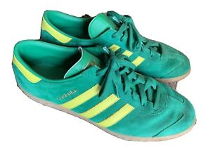 Details about Adidas Hamburg - Green And Yellow Men's Size 13 - Pre-owned Shoes