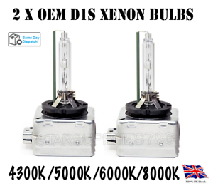 2X-D1S-XENON-BULBS-OEM-HEADLIGHT-REPLACEMENTS-BMW-E60-E61-E65-E66-E88-E90-E92-X5