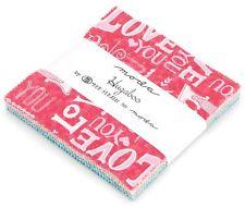 "Hugaboo Moda Charm Pack 42 100% Cotton 5"" Precut Fabric Quilt Squares"