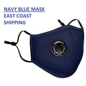 Cotton Face Mask with Exhaust Valve Washable Reusable with Dust Proof Filter *N*