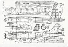 B-17 Model Airplane Plans 1/2 A Flying Fortress Profile or full fuselage C/L