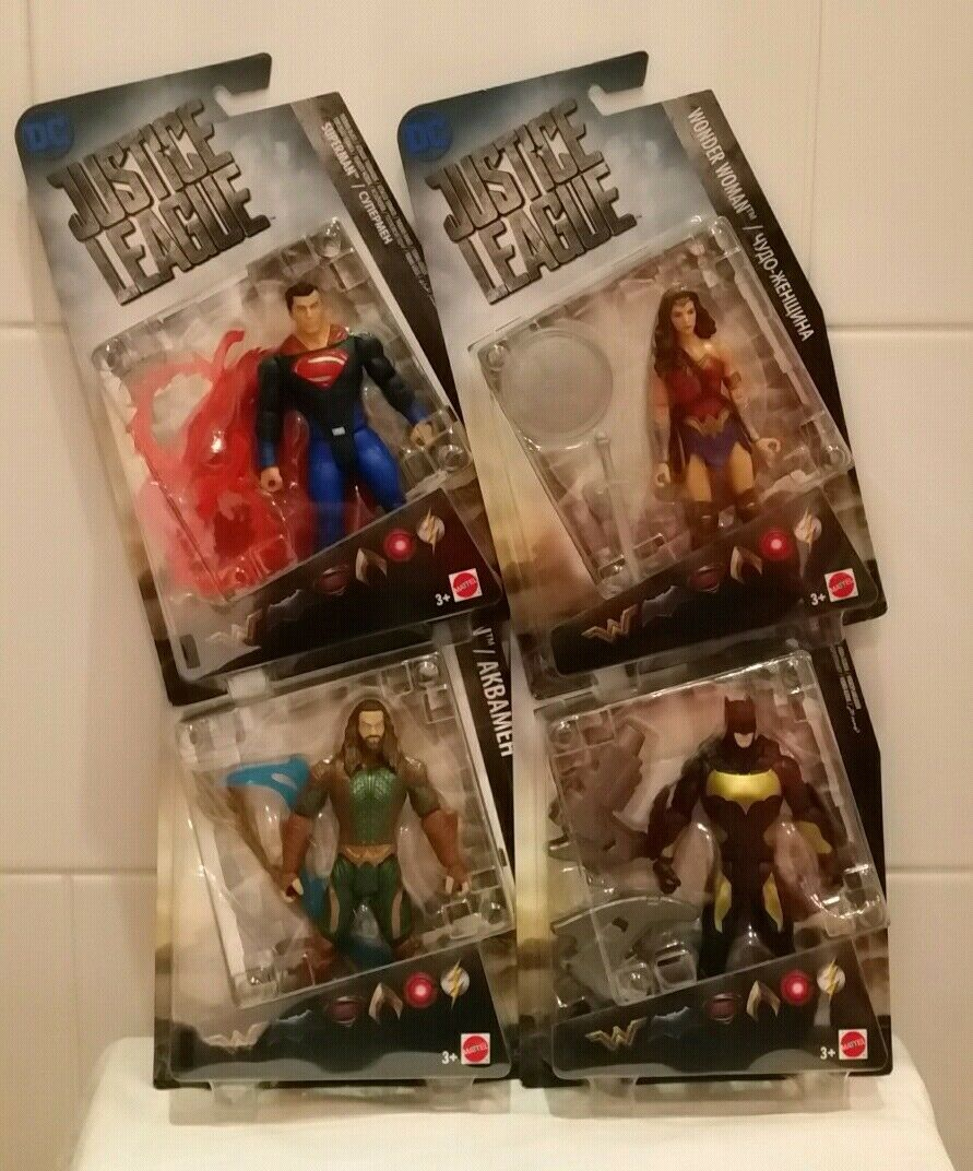 Justiz liga superman, wonder woman, aquaman, batman 6  mattel - action - figuren