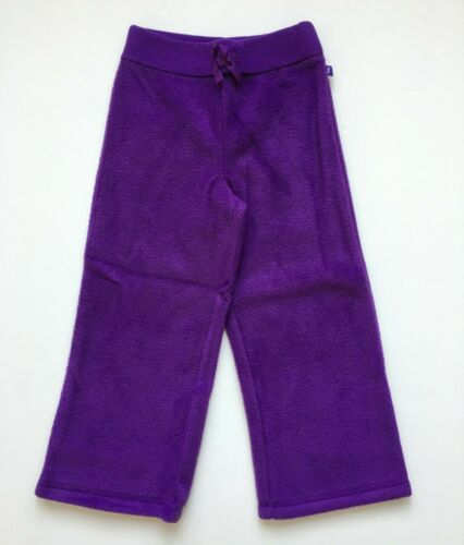 BABY GAP Girls Sz 4T 5T Purple Wide Leg Fleece Pants NEW