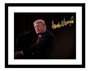 President Donald Trump 11x14 Signed Photo Print Autographed Plane Background