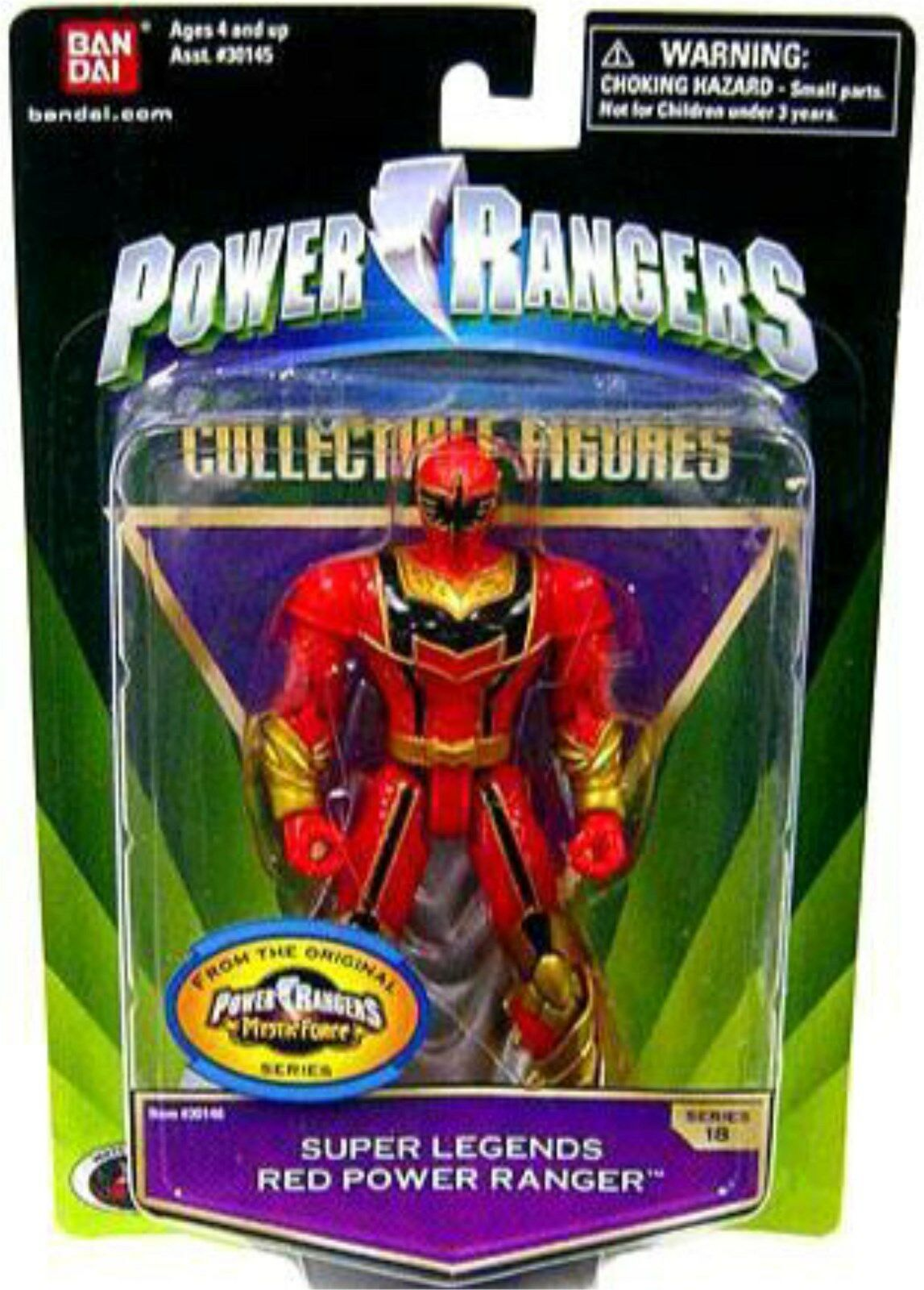 Power Ranger Super Legends Mystic Force 5  Red Red Red Heroes New Factory Sealed 2008 012453