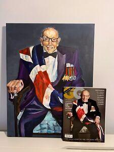 Sir Captain Tom Moore GQ Cover Acrylic Canvas 60cm x 46cm