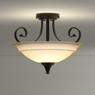 Hampton Bay Semi Flush Mount Quot Carina Quot Ceiling Light Aged