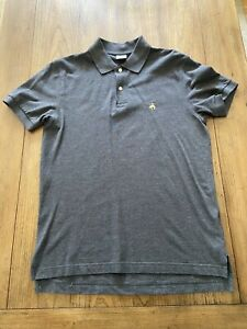 Brooks-Brothers-Men-s-Gray-Performance-Polo-Collared-Shirt-Slim-Fit-Size-M