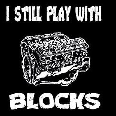 I Still Play With Blocks Funny Mechanic Engine Cars Gray Basic Men/'s T-Shirt