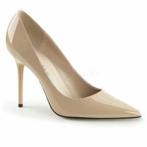Gogo Patent Beige Classique Sexy Shoe Classic Pump Office Office Evening 20 Pleaser CwS1qf