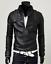 New-Men-039-s-Slim-Fit-Zipper-Designed-PU-Leather-Jacket-Coat-Free-Post-0309 thumbnail 7