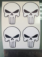 The Punisher Logo Decals / Stickers (4 STICKERS) (50mm x 70mm)