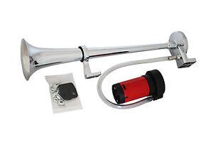 fanfare hupe druckluft horn 43cm mit kompressor e. Black Bedroom Furniture Sets. Home Design Ideas