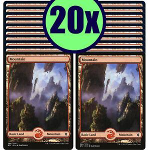 20x MOUNTAIN 266 Full Art Basic Land NM/LP MTG Magic Battle for Zendikar