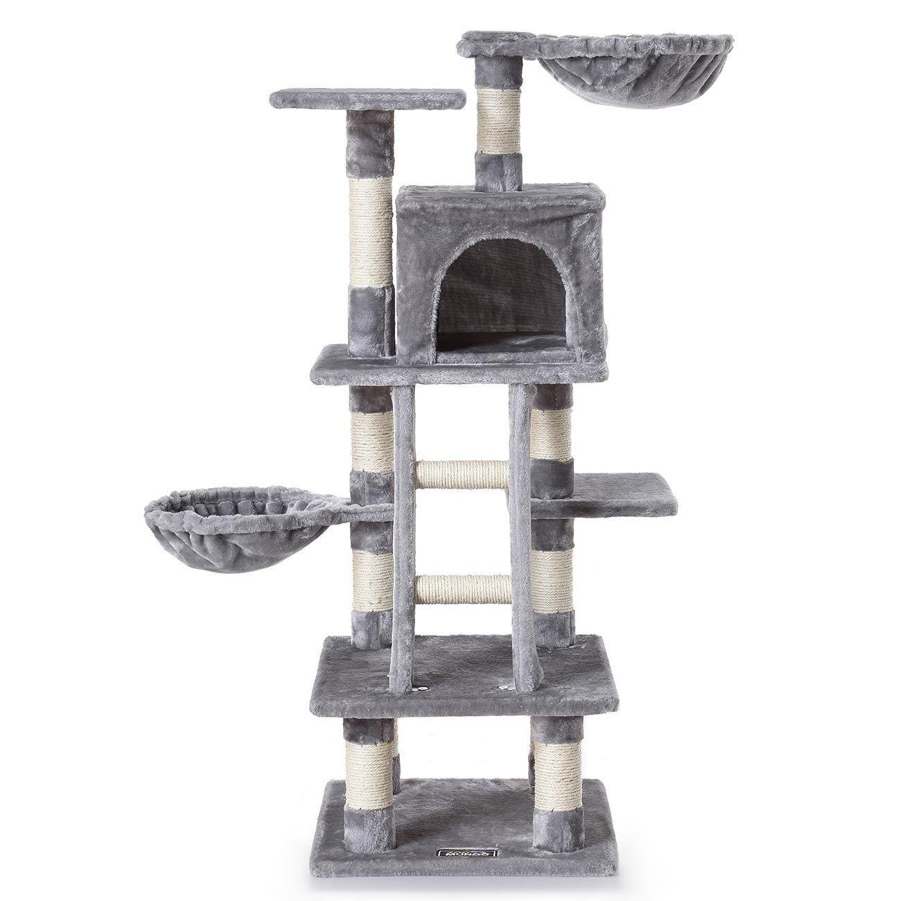 Arbre à Chat Griffoir Grattoir 120 cm Jouet Douillet Chats Animaux zoomundo