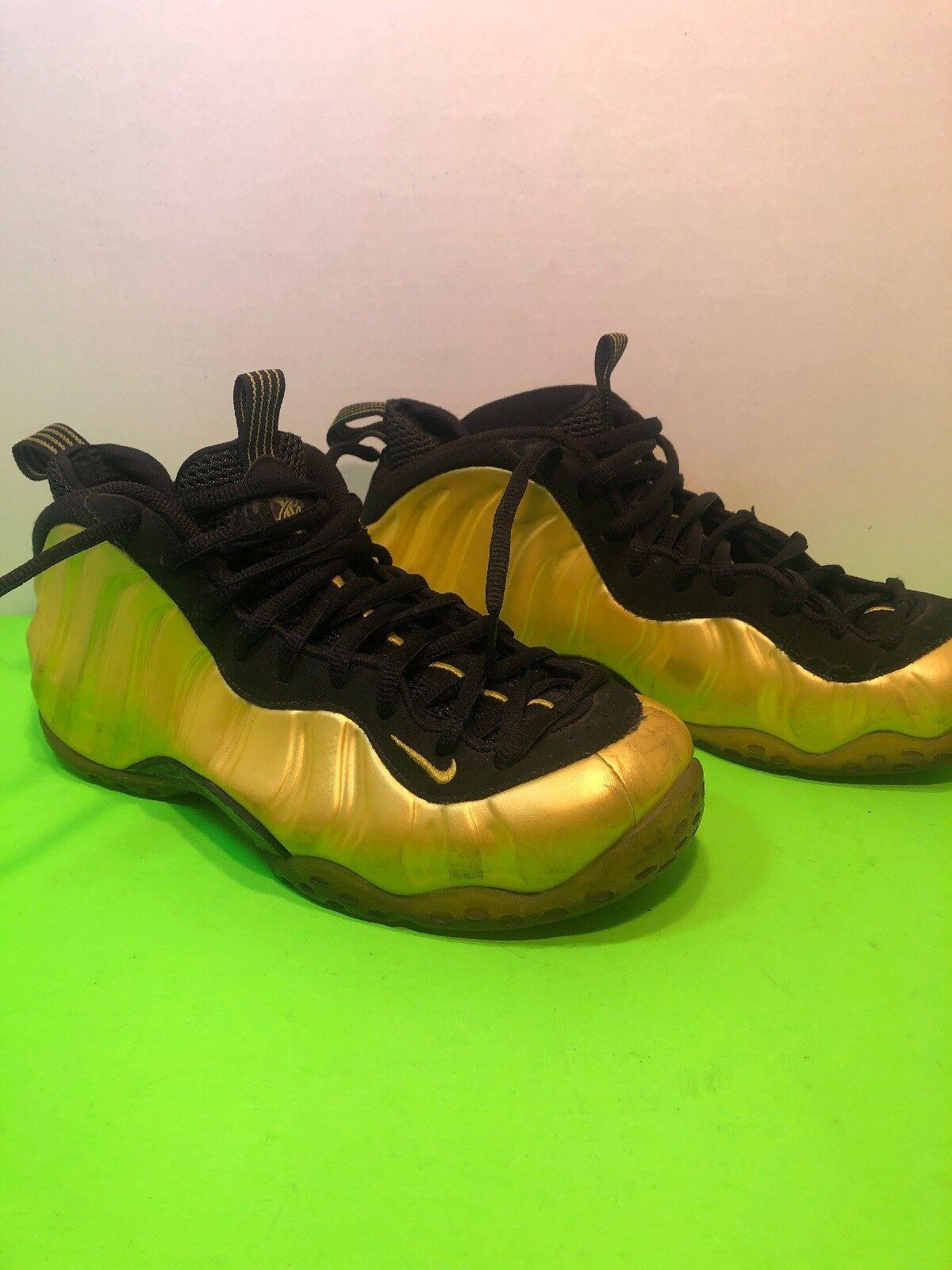 Nike Foamposite One Electrolime Yellow Black 314996-330 Men's Size 8.5