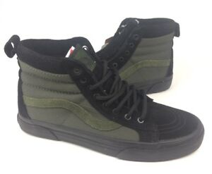 b9e02e3df4 NEW Vans Sk8-Hi MTE All Weather Black Green Mens Size 6.5 8 Skate ...