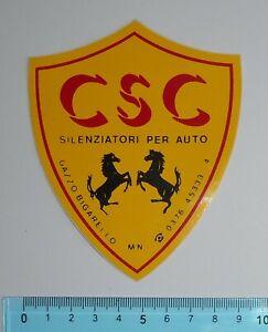 ADESIVO-AUFKLEBER-STICKER-AUTOCOLLANT-AUTO-TUNING-CSC-ANNI-039-80-VINTAGE-11x9-cm