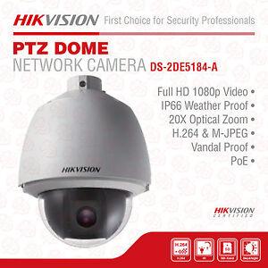 Hikvision DS-2DE5184-A Network PTZ Dome Camera, 2MP, 20X Optical Zoom, 1080P