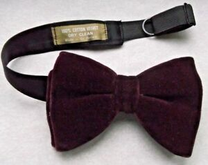 0816a517987d Bow Tie Vintage Velvet Mens Big Bowtie 1970s DANDY CRUISER DARK ...
