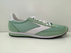 Image is loading New-Brooks-Women-Vantage-Green-Nubuk-Mesh-Running-