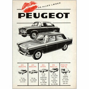 1962 Peugeot: Berline Dutch Vintage Print Ad