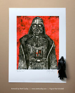 Star Wars DARTH VADER Vintage Kenner Action Figure ORIGINAL ART PRINT 3.75