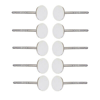 3MM 5 Paris 925 Sterling Silver Blank Ear Stud Pin Earrings Posts Flat Pad DIY Craft