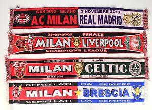 MILAN-SCIARPA-REAL-MADRID-Liverpool-Celtic-BRESCIA-VINTAGE-FOOTBALL-Sciarpe-Retro